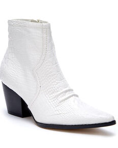 Matisse Women's Devon Fashion Booties - Pointed Toe, White, hi-res