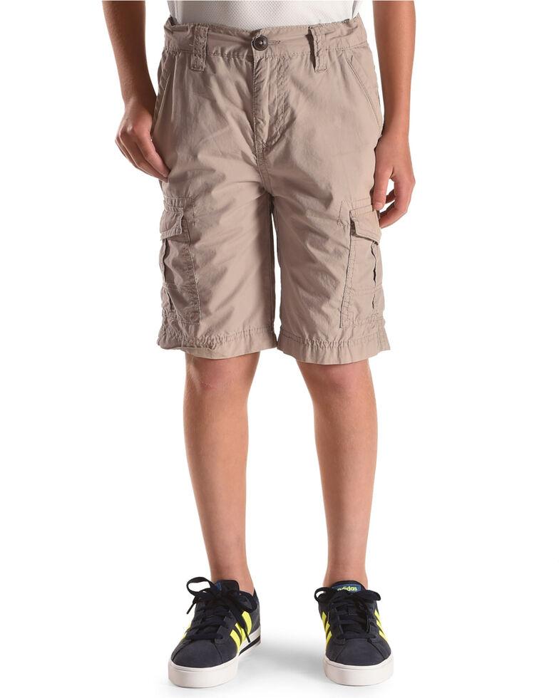273289dec4 Zoomed Image Silver Boys' Six Pocket Cargo Shorts, Grey, hi-res