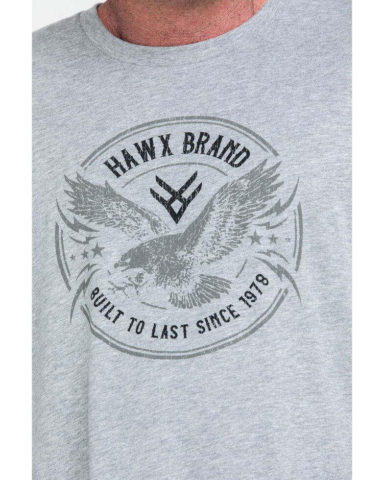 Hawx® Men's Freedom Wings Graphic Work T-Shirt , Heather Grey, hi-res