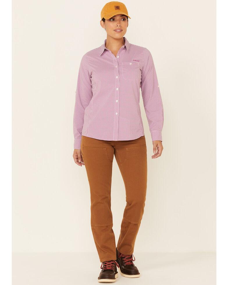 Ariat Women's Plaid VentTEK II Long Sleeve Button-Down Western Core Shirt , Violet, hi-res