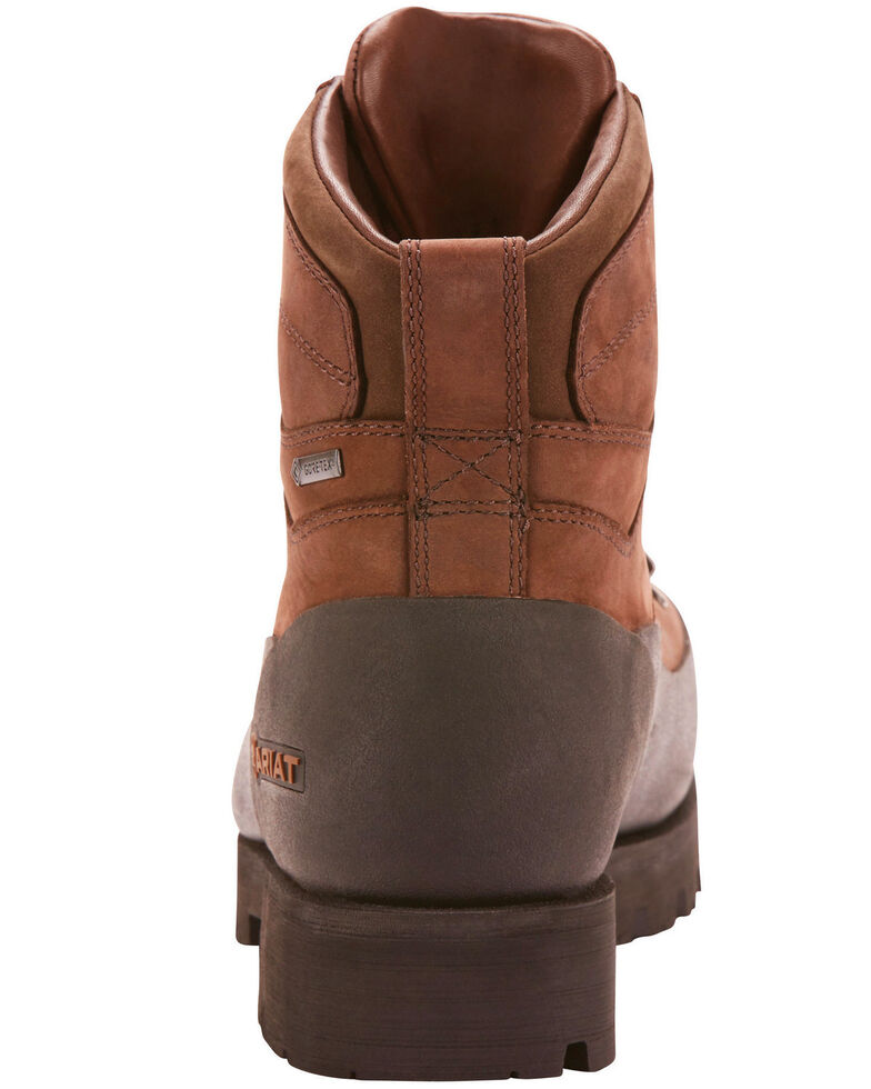"Ariat Men's Linesman Ridge 6"" EH Work Boots - Round Composite Toe, Medium Brown, hi-res"