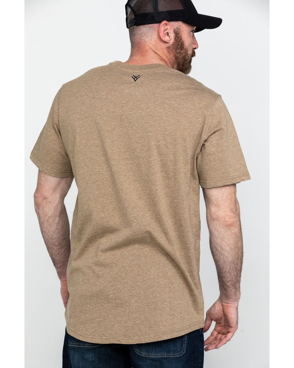 Hawx® Men's Pocket Crew Short Sleeve Work T-Shirt , Tan, hi-res