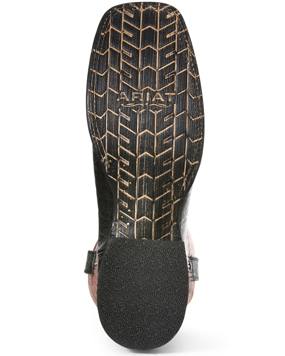Ariat Men's Black Circuit Herd Western Boots - Wide Square Toe, Black, hi-res