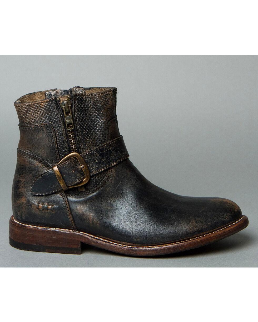 Bed Stu Women's Becca Side Zip Boots - Round Toe , Black, hi-res