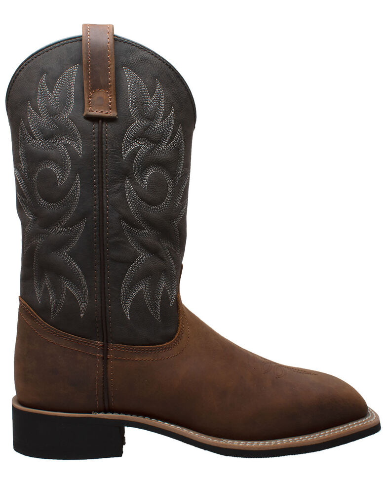 Ad Tec Men's Brown Western Work Boots - Soft Toe, Brown, hi-res