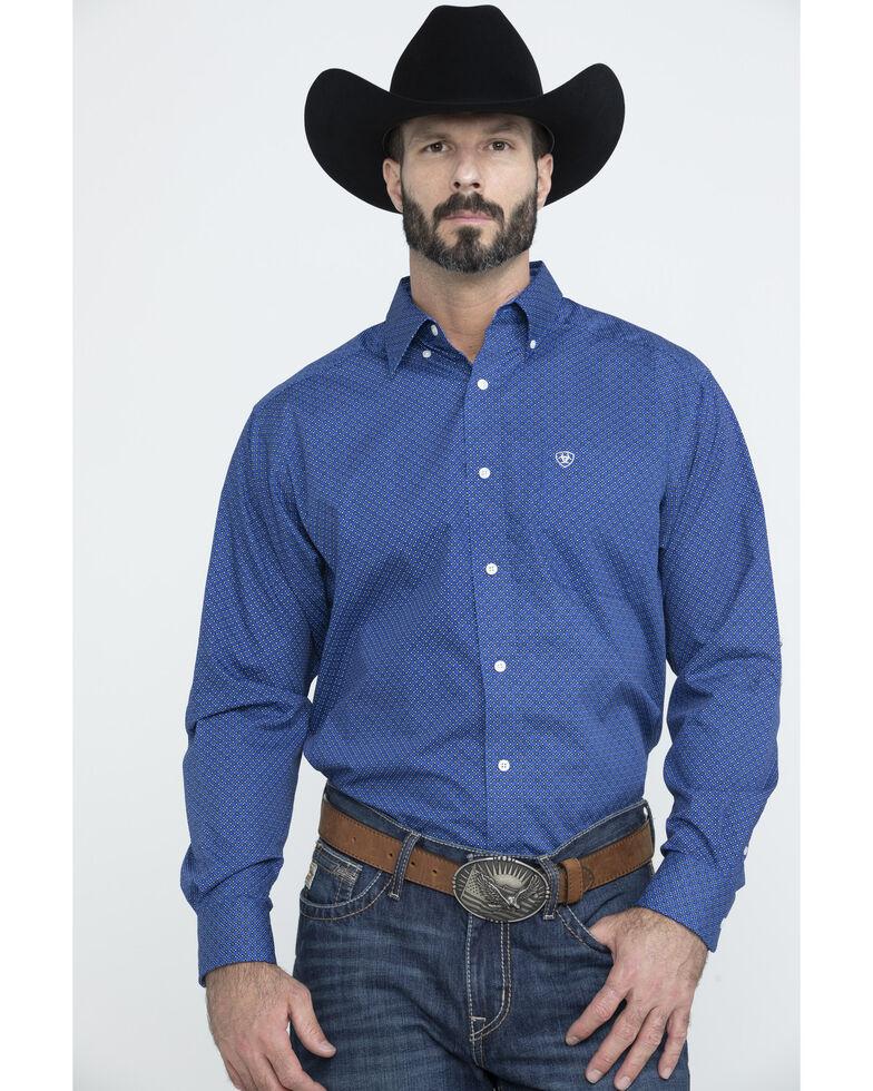 Ariat Men's Wrinkle Free Parton Geo Print Long Sleeve Western Shirt - Big , Multi, hi-res