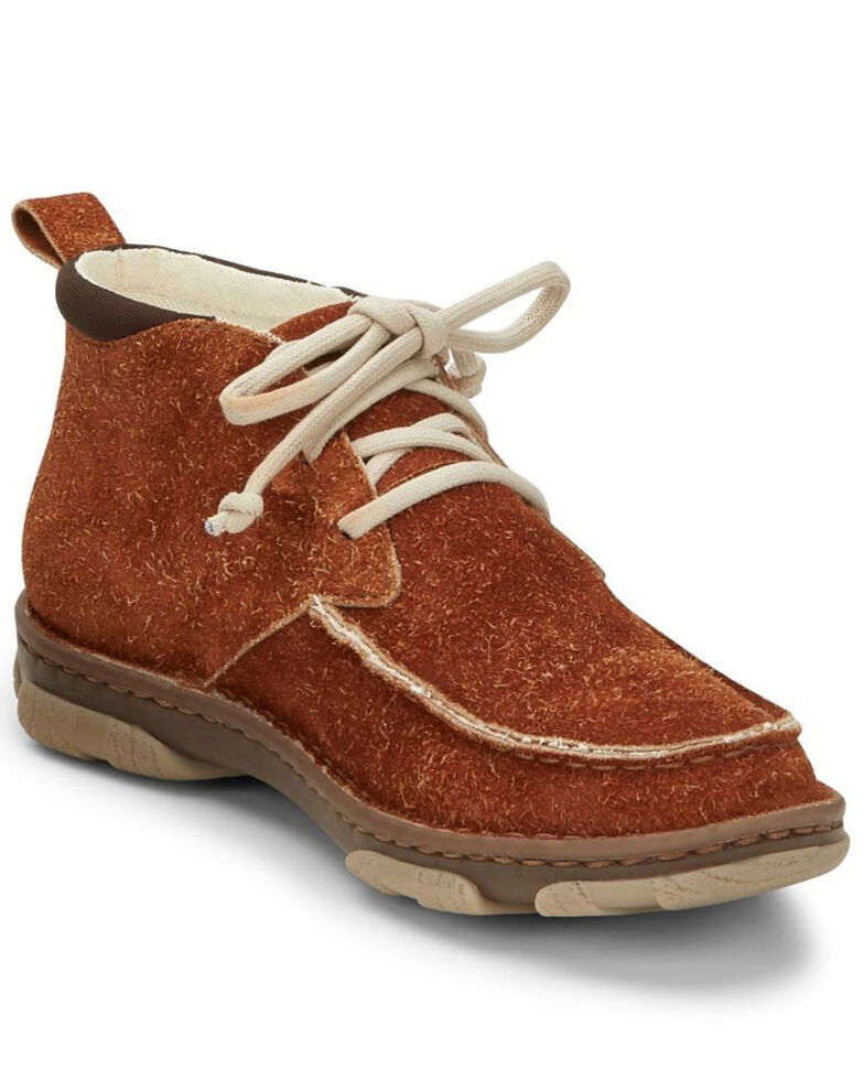 Tony Lama Men's Joshua Fox Casual Shoes - Moc Toe, Cognac, hi-res