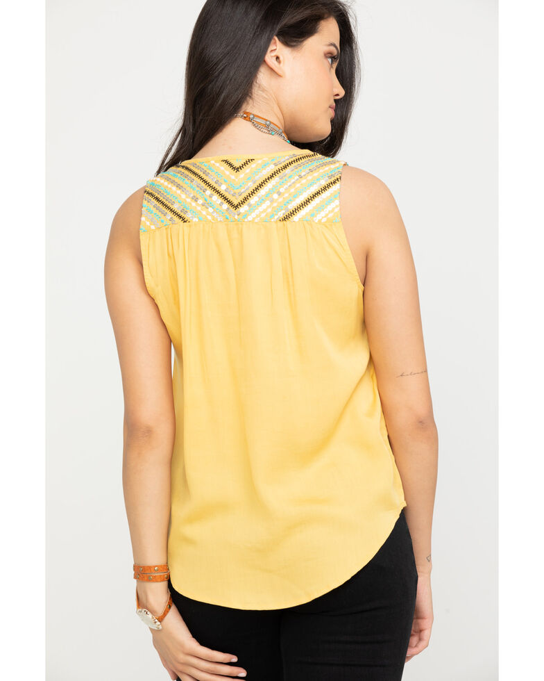 Ariat Women's Thelma Sleeveless Top, Gold, hi-res