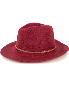 Peter Grimm Women's Dira Knit Fedora, Burgundy, hi-res