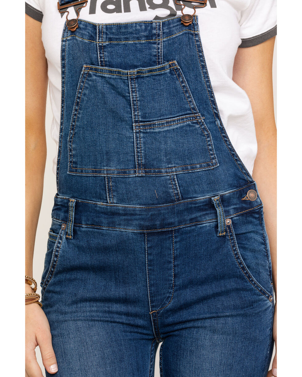 Free People Women's Carly Flare Overalls , Blue, hi-res