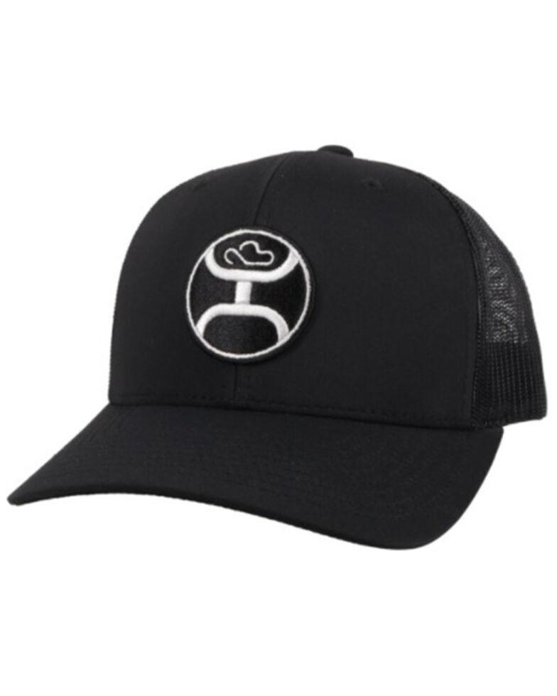 HOOey Men's Black Primo Logo Mesh Ball Cap , Black, hi-res
