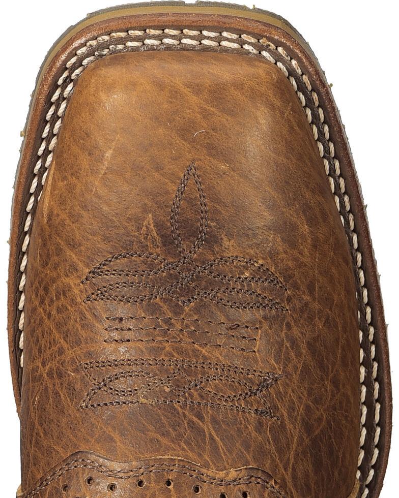 Double H Men's Domestic ICE Roper Boots - Steel Toe, Brown, hi-res