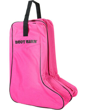 Boot Barn® Nylon Logo Boot Bag, Hot Pink, hi-res