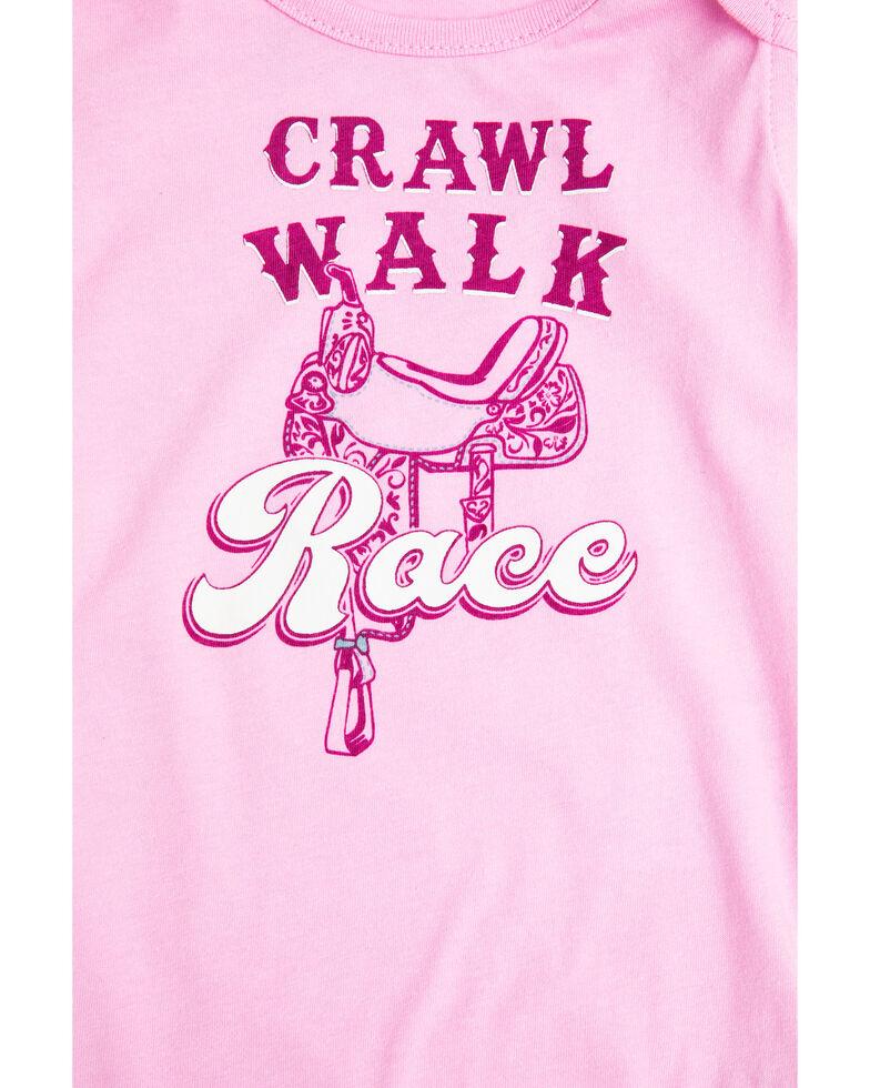 Shyanne Infant Girls' Crawl Walk Race Ruffle Sleeve Onesie, , hi-res