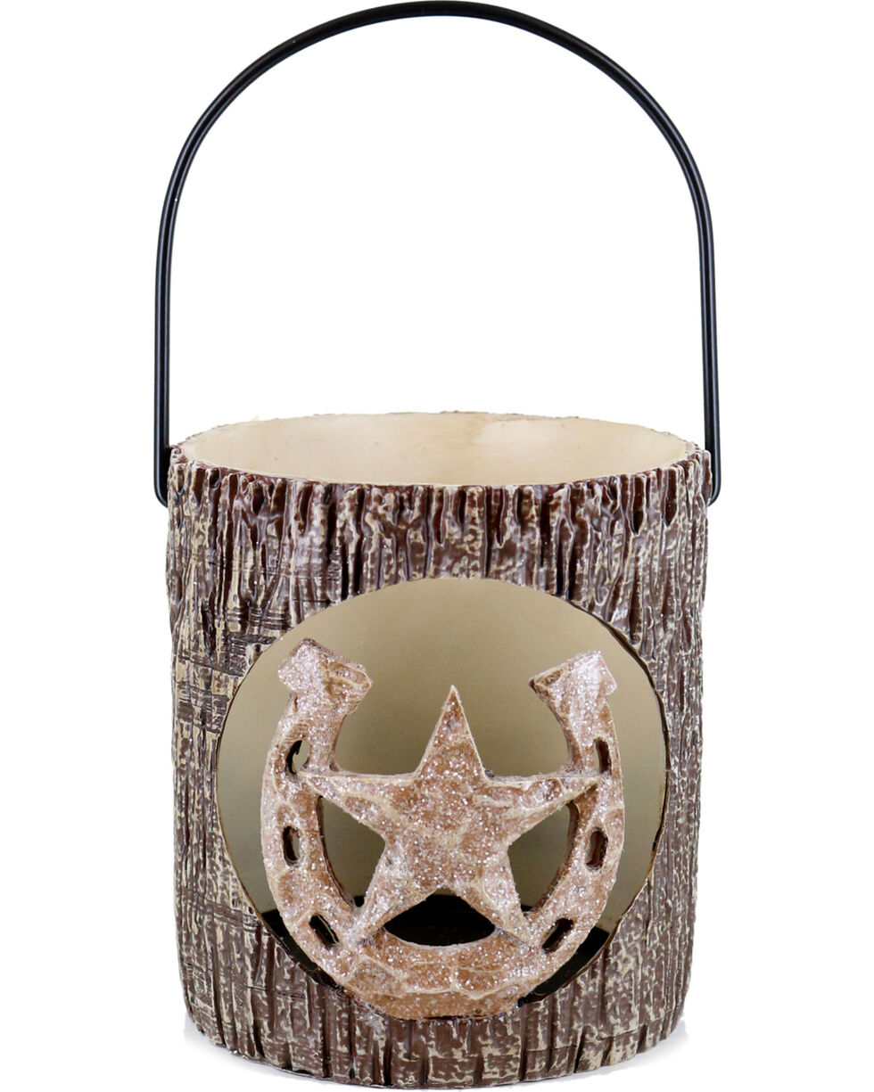 BB Ranch Star and Horseshoe Lantern , Brown, hi-res