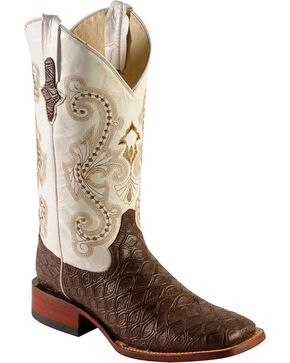 Ferrini Men's Anteater Print Western Boots, Chocolate, hi-res