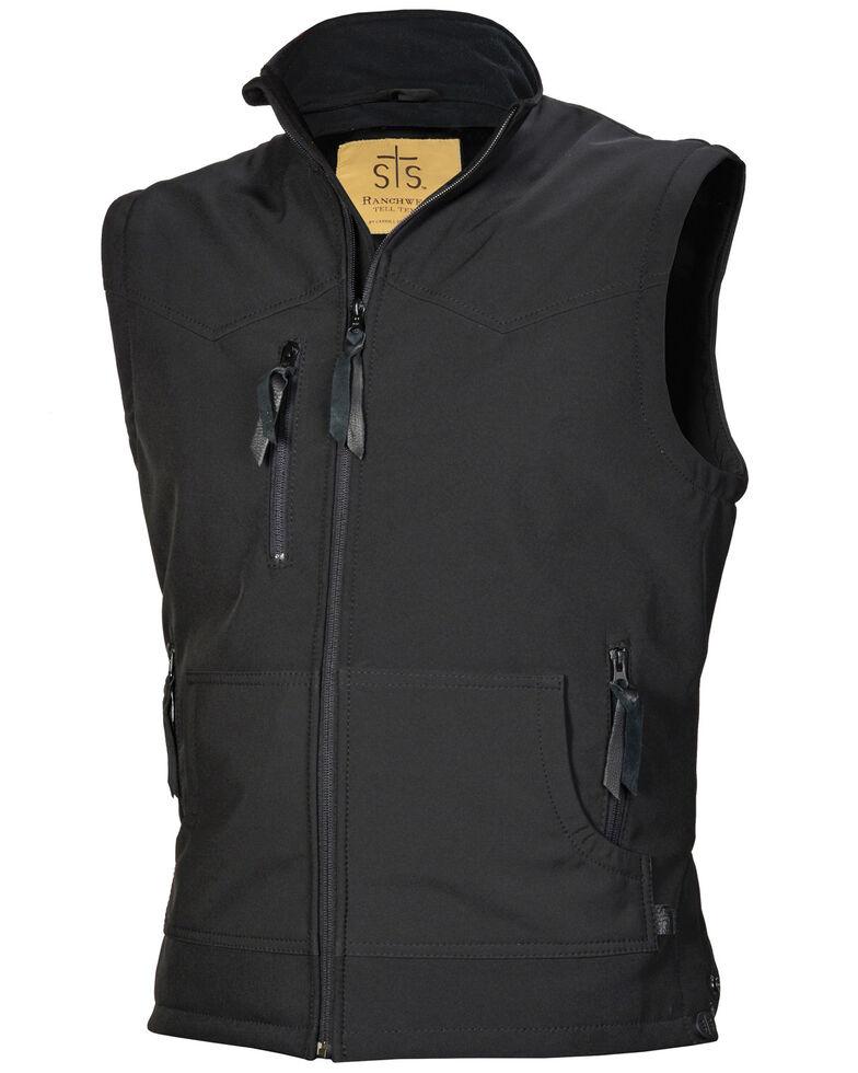 STS Ranchwear Men's Black Barrier Vest - Big , Black, hi-res