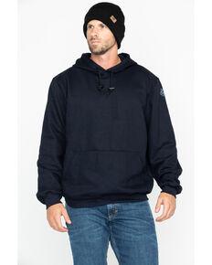 National Safety Apparel Men's Navy Heavyweight Pullover FR Sweatshirt - Tall, Navy, hi-res