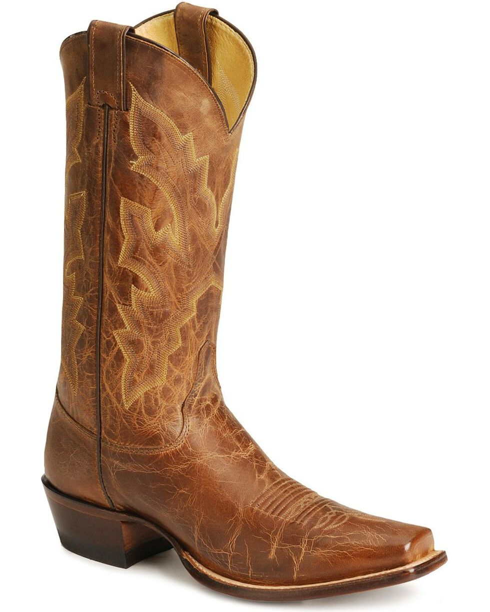 Justin Men's Distressed Vintage Goat Western Boots, Tan, hi-res