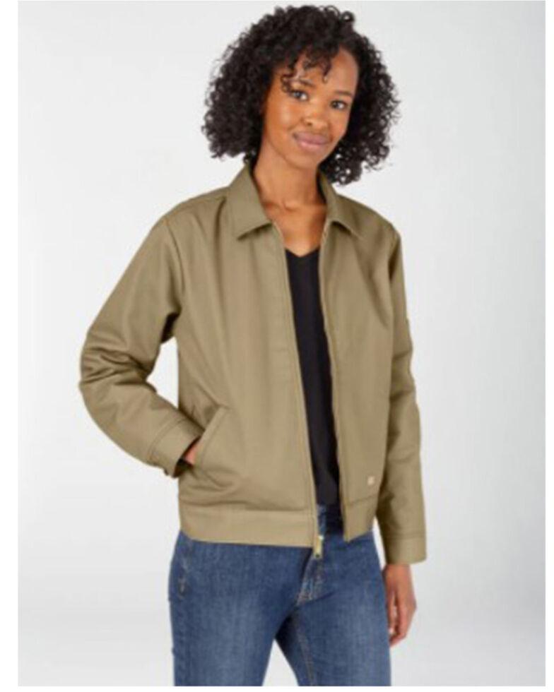 Dickies Women's Khaki Eisenhower Insulated Jacket, Beige/khaki, hi-res
