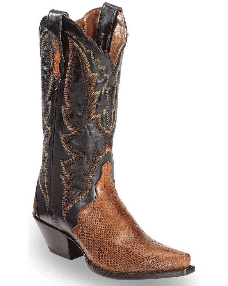 Dan Post Women's Cognac Water Snake Triad Cowgirl Boots - Snip Toe, Cognac, hi-res