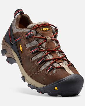 Keen Men's Detroit Low Internal Met Guard Work Shoes - Steel Toe, Brown, hi-res