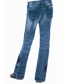 Cowgirl Tuff Girls' Turquoise Spirit Trouser, Blue, hi-res