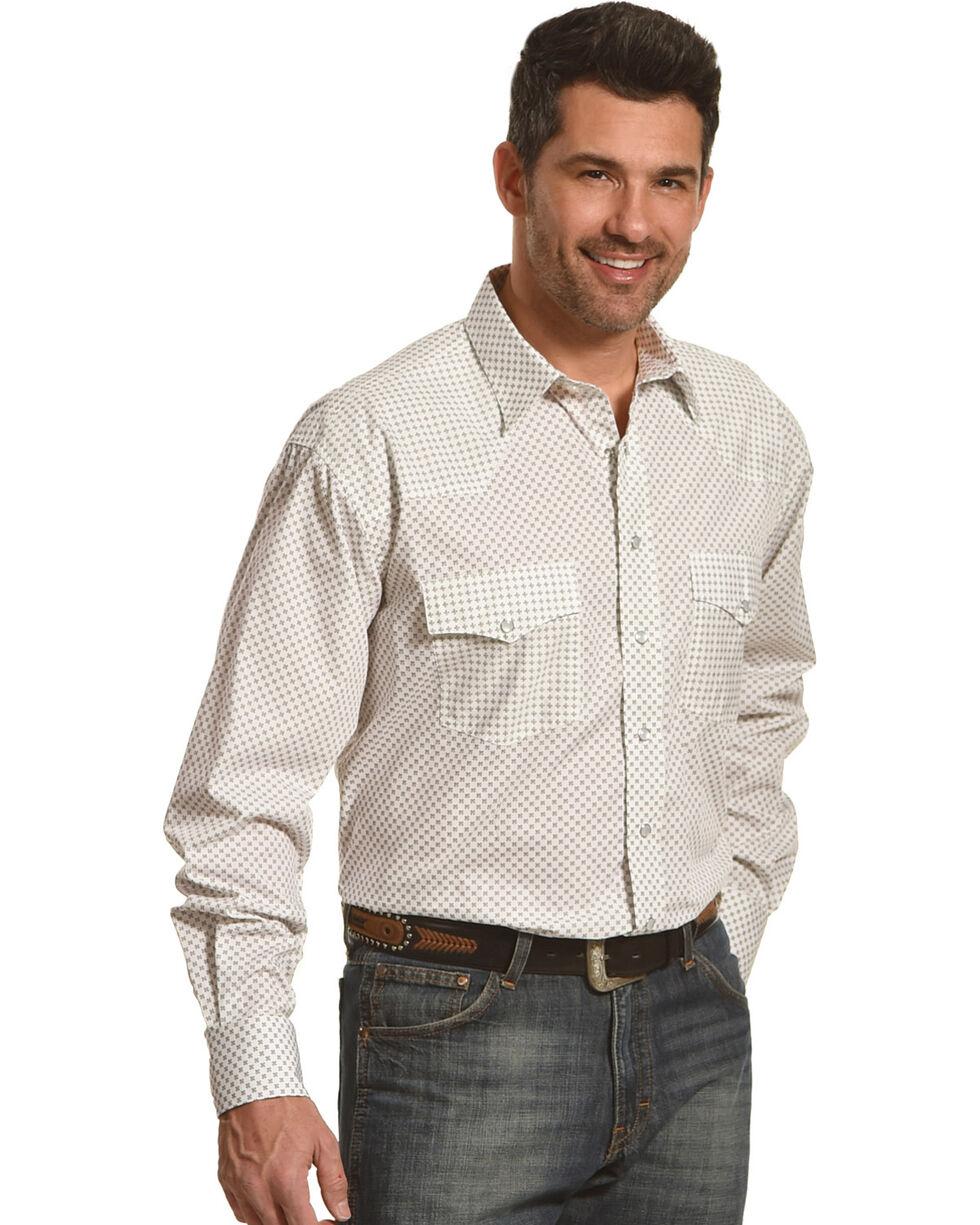 Resistol Men's White Manchester Snap Shirt , White, hi-res