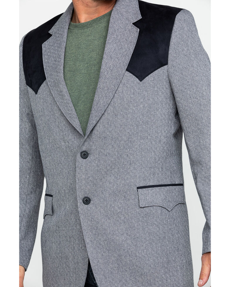 Circle S Men's Lubbock Sport Coat - Big , Grey, hi-res