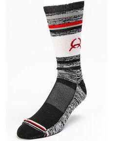 Cinch Men's Heathered Performance Crew Socks, Multi, hi-res