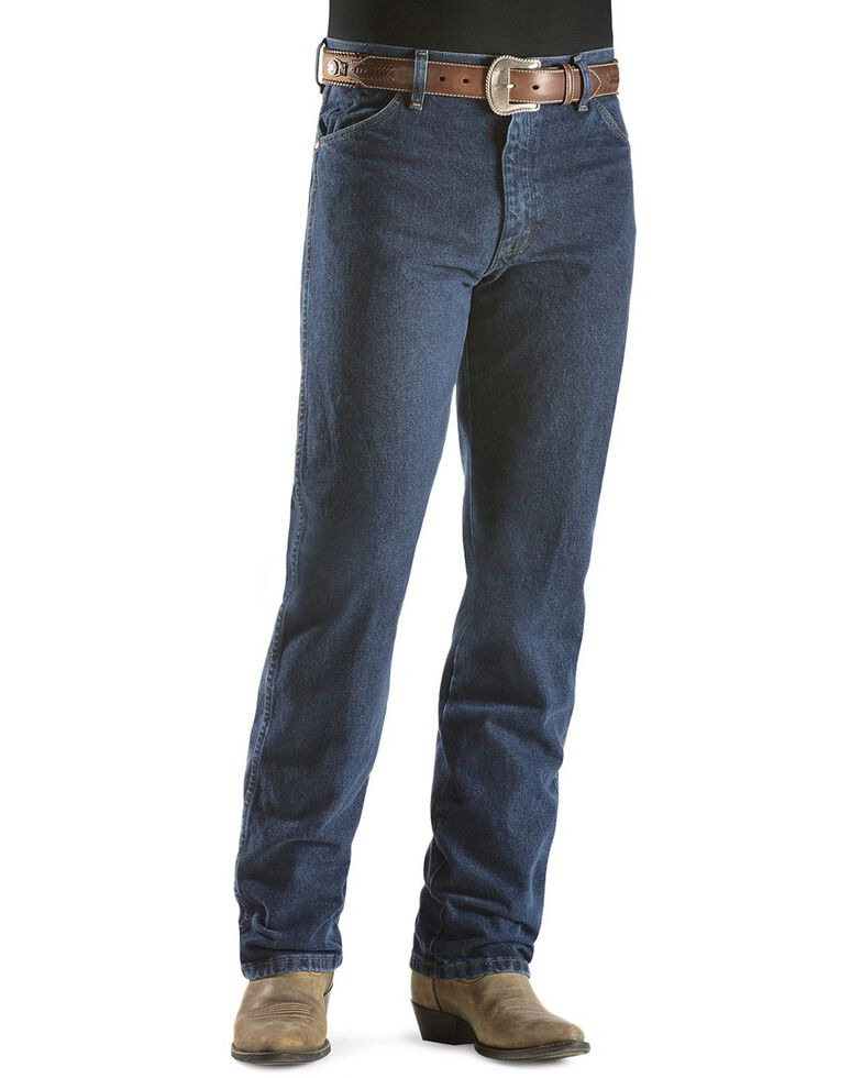 "Wrangler 13MWZ Cowboy Cut Original Fit Prewashed Jeans - 38"" & 40"" Inseams, Dark Stone, hi-res"