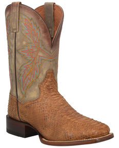 Dan Post Men's Dry Gulch Python Exotic Boots - Wide Square Toe, Tan, hi-res