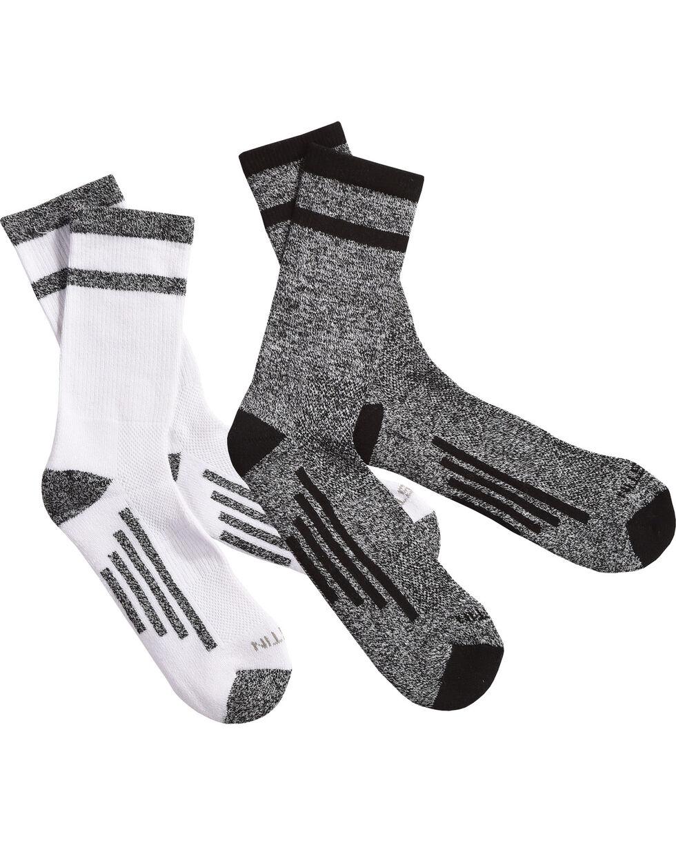 Justin Men's JUSTDRY Half Cushion 2-Pair Socks , Black, hi-res