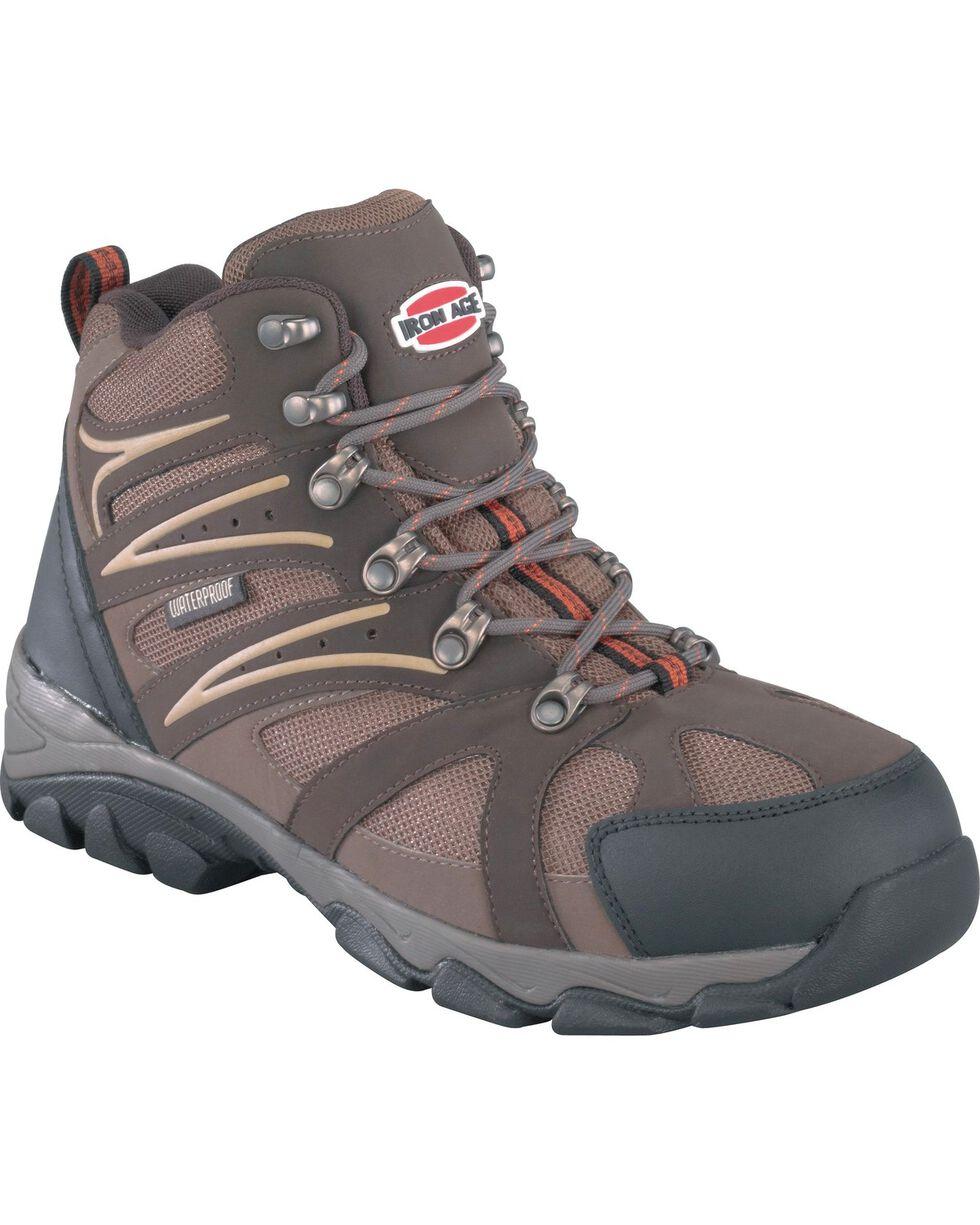 Iron Age Men's Surveyor Steel Toe Hiker Boots, Brown, hi-res