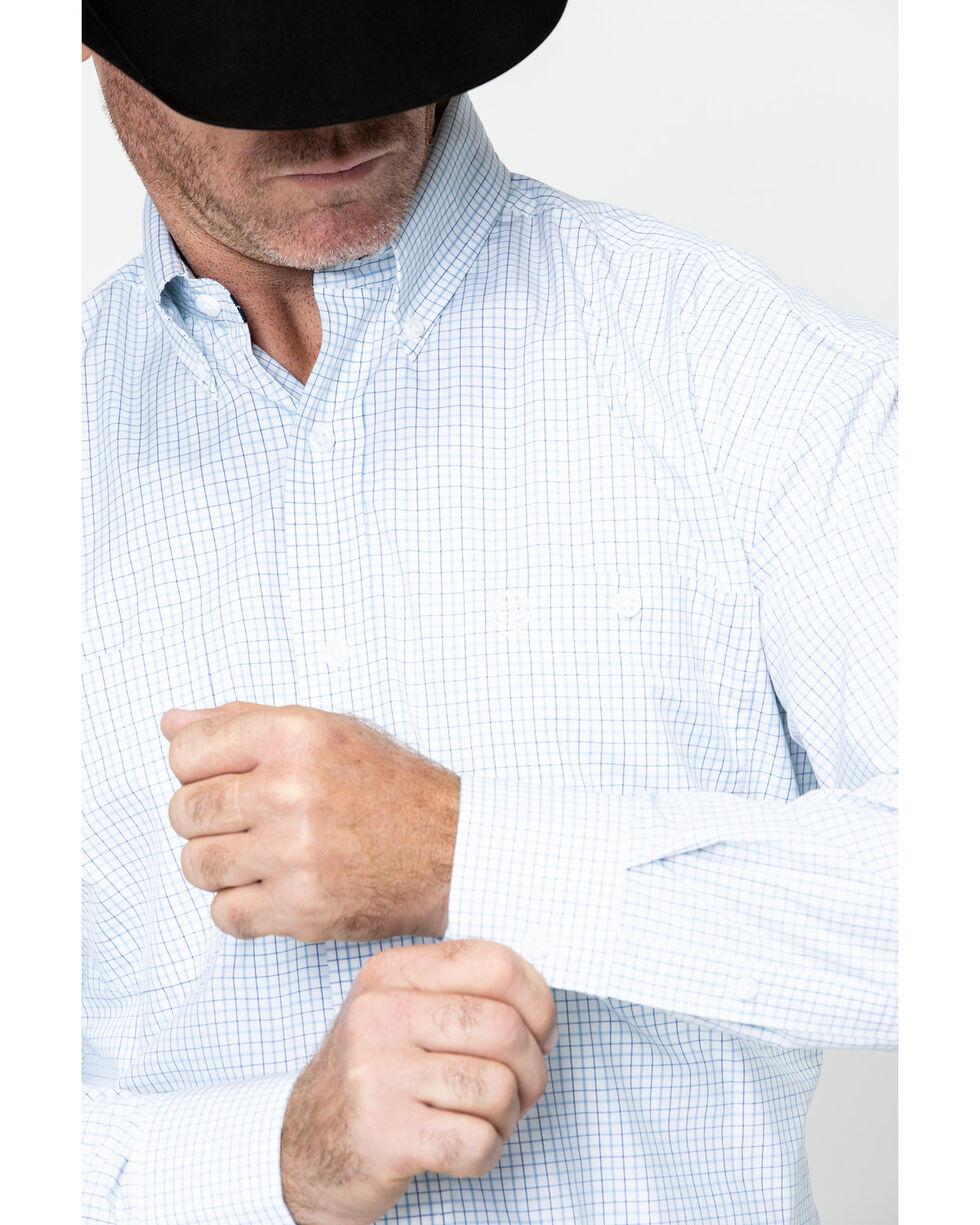 George Strait by Wrangler Men's Plaid Long Sleeve Western Shirt - Big & Tall , Blue, hi-res