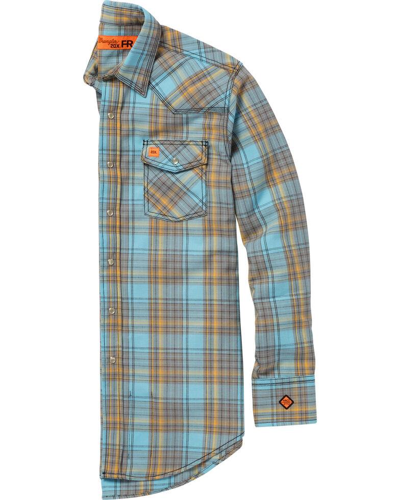 Wrangler 20X Men's Light Blue Flame-Resistant Long Sleeve Shirt - Big & Tall , Light Blue, hi-res