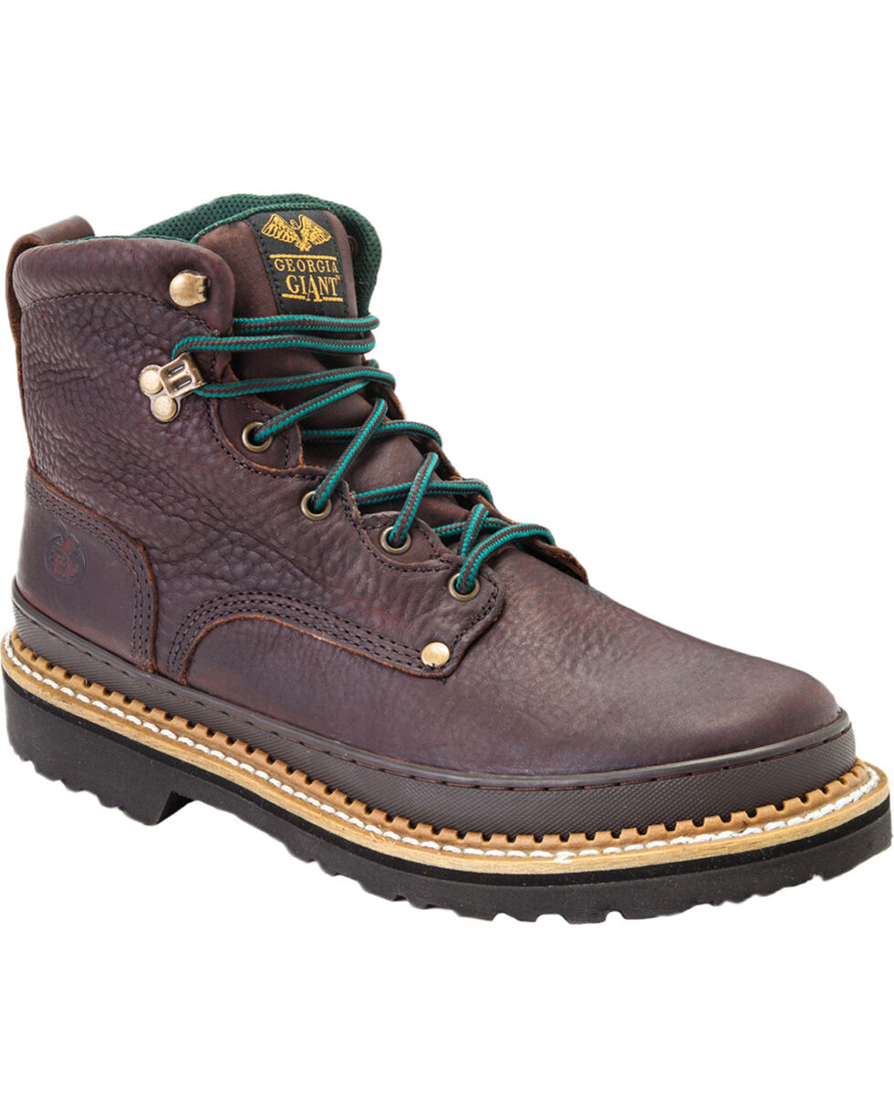 Georgia Women's Giant Steel Toe Work Boots, Brown, hi-res