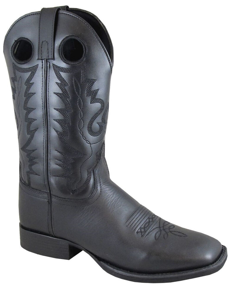 Smoky Mountain Men's Outlaw Western Boots - Square Toe, Black, hi-res