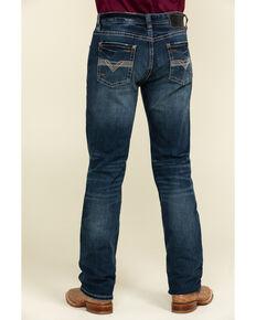 Rock & Roll Cowboy Men's Reflex Revolver Dark Slim Straight Jeans , Blue, hi-res