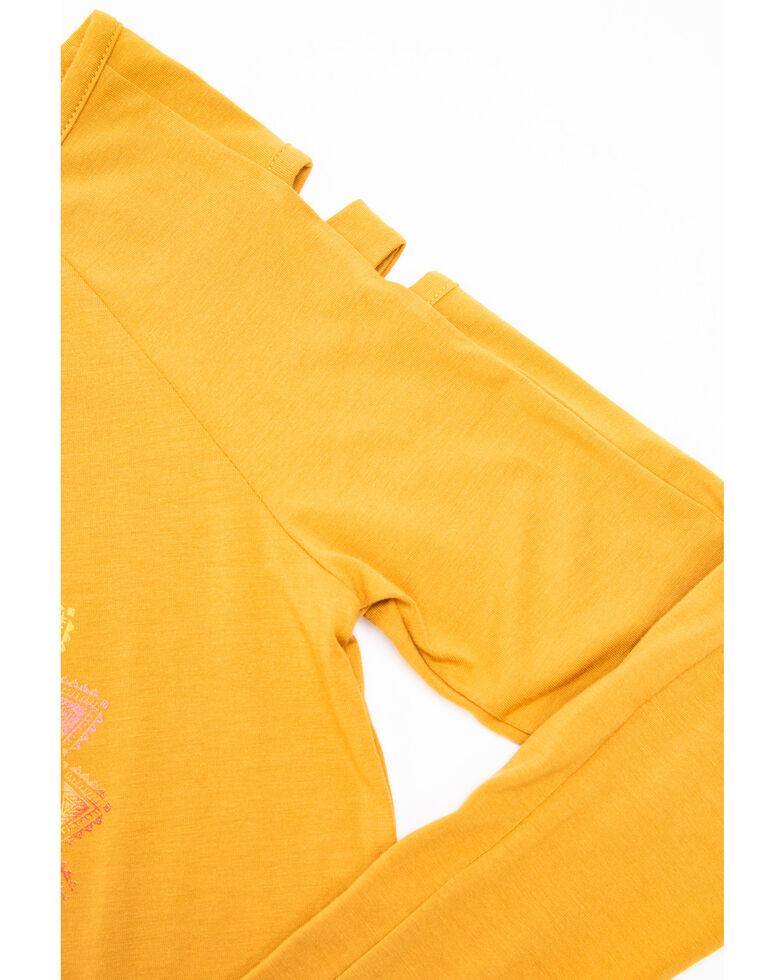 Shyanne Girls' Free Spirit Long Sleeve Shirt, Yellow, hi-res