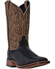 Laredo Men's Lodi Square Toe Western Boots, Black, hi-res