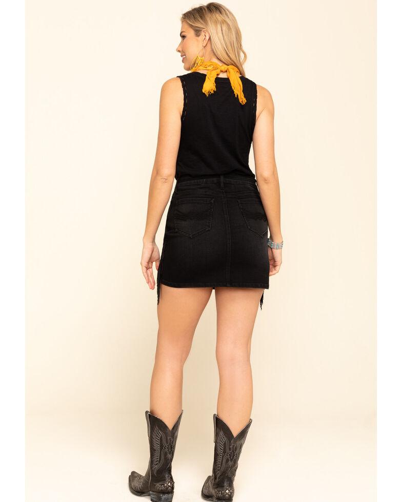 Idyllwind Women's Outlaw Fringe Skirt, Black, hi-res