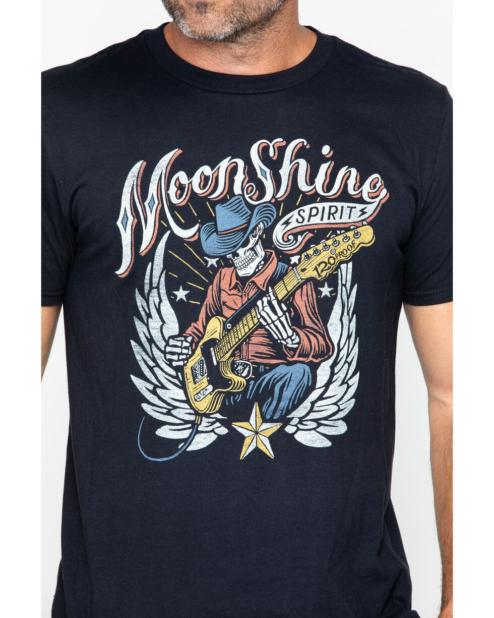 Moonshine Spirit Men's 120 Proof Twang Short Sleeve Shirt, Black, hi-res