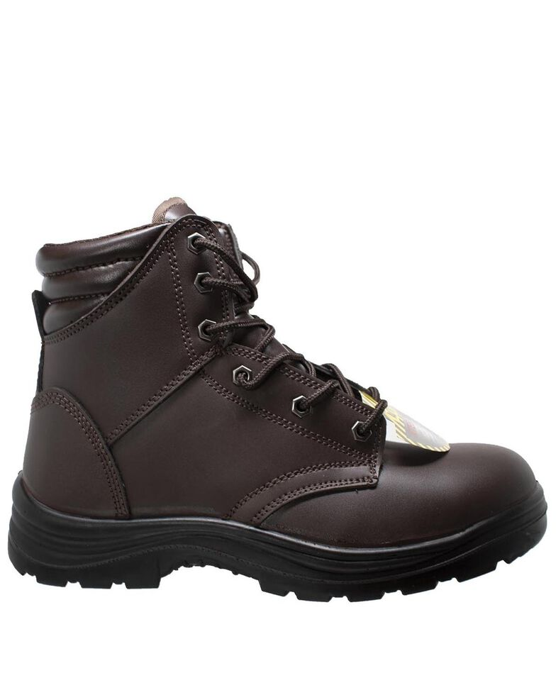 """Ad Tec Men's Brown 6"""" Lace-Up Work Boots - Steel Toe, Brown, hi-res"""