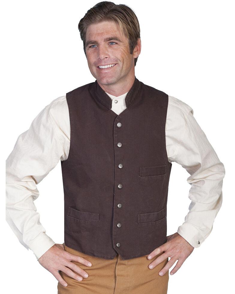Rangewear by Scully Standup Round Collar Vest, Walnut, hi-res