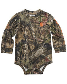 Carhartt Infant Boys' Camo Print Long Sleeve Body Shirt , Camouflage, hi-res