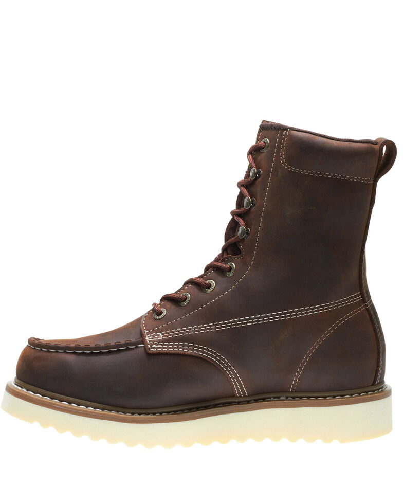 Wolverine Men's Loader Work Boots - Steel Toe, Brown, hi-res