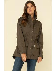 Carhartt Women's Smithville Work Jacket, Dark Brown, hi-res