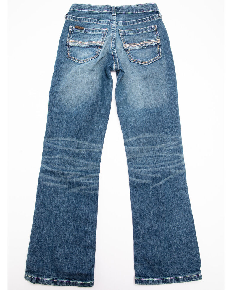 Ariat Boys' B4 Nash Stretch Relaxed Boot Jeans , Blue, hi-res