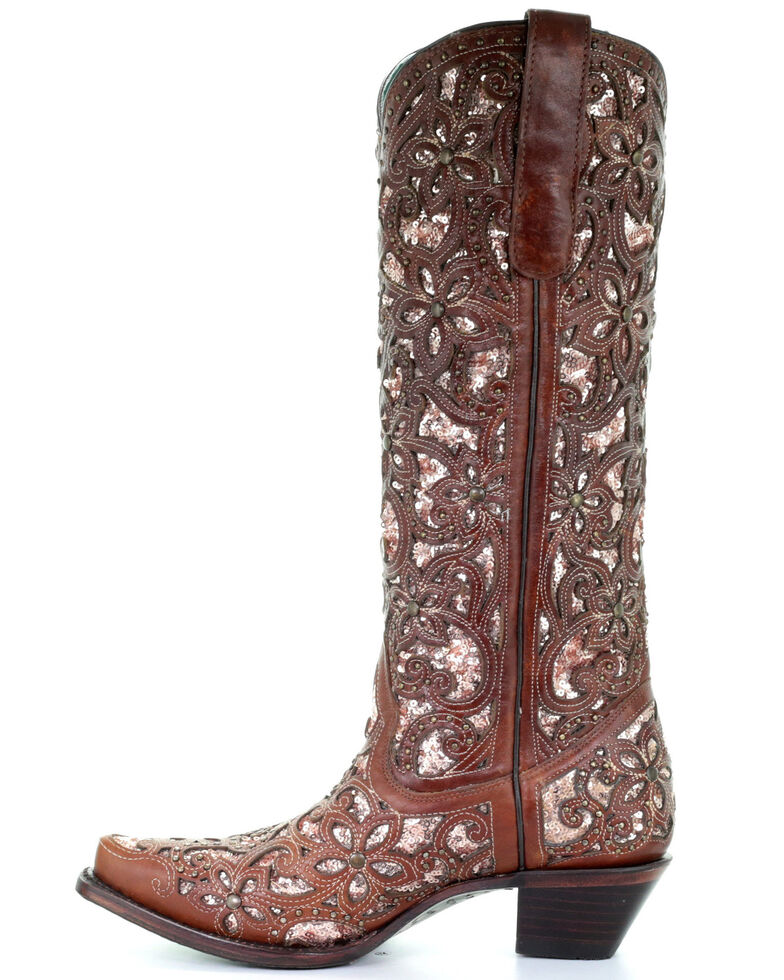 Corral Women's Star Inlay & Embroidery Western Boots ...